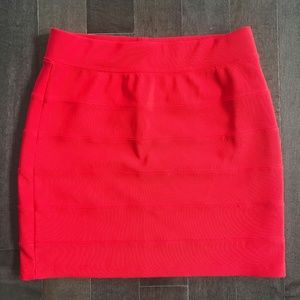 Sexy Red bandage skirt